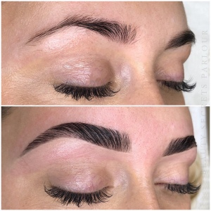 An example of brow lamination